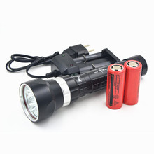 8000Lumen CREE 5x CREE XM-L T6 LED Scuba Diving Flashlight Torch Dive Light 100M  + 2x 26650 Battery + Charger(China (Mainland))