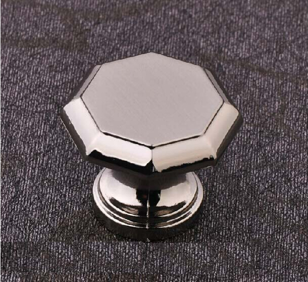 10Pcs/lot Nickel wire drawing of gold European classical knob drawer cabinets wardrobe door handle(China (Mainland))