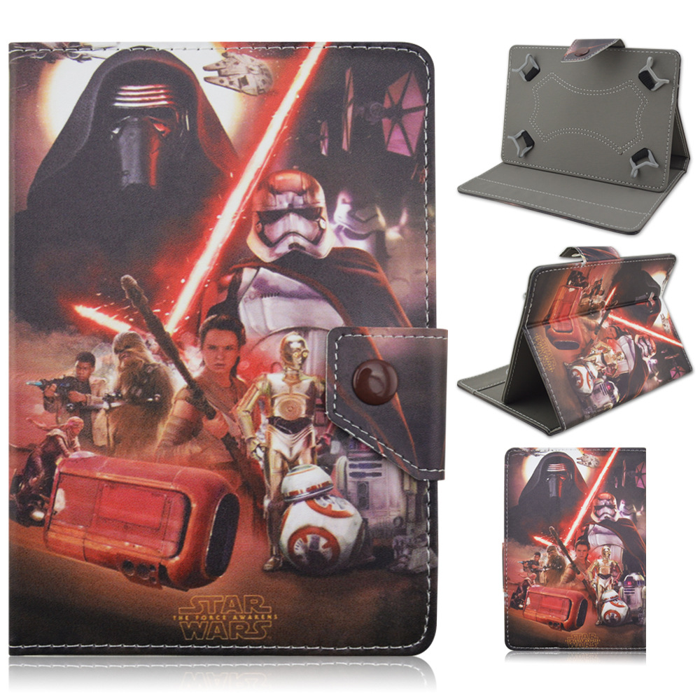 Star Wars Darth Revan Yoda Obi Wan Han Solo Clones Sith for Amazon Kindle Fire 7 Tablet 2015 PU Leather Protective Case Cover(China (Mainland))