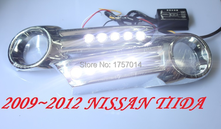 2009~2012 Tiida ABS LED daytime running light  2pcs/set+wire of harness10W 12V,6500K;Free ship,<br><br>Aliexpress