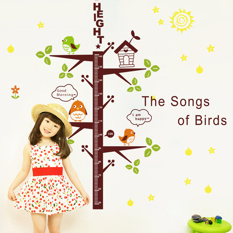 Creative Children Room Background Wall Stickers Stick PVC Environmental Protection Can Be Removed The Bird Height(China (Mainland))
