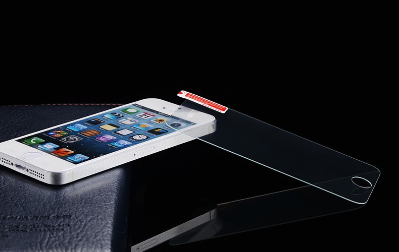 HOT Sale 0.19mm Ultra Thin Explosion-proof Tempered Glass Screen Protector Film For iPhone 5 5G 5S 5C front Cover Guard(China (Mainland))