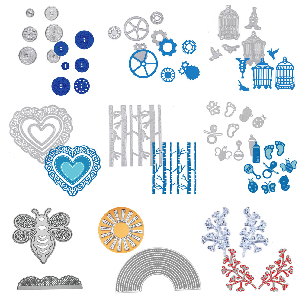 1pc New Metal Cutting Dies Stencil troqueles de corte de 10Styles DIY Scrapbooking Embossing Carbon steel Album Card Craft 2017