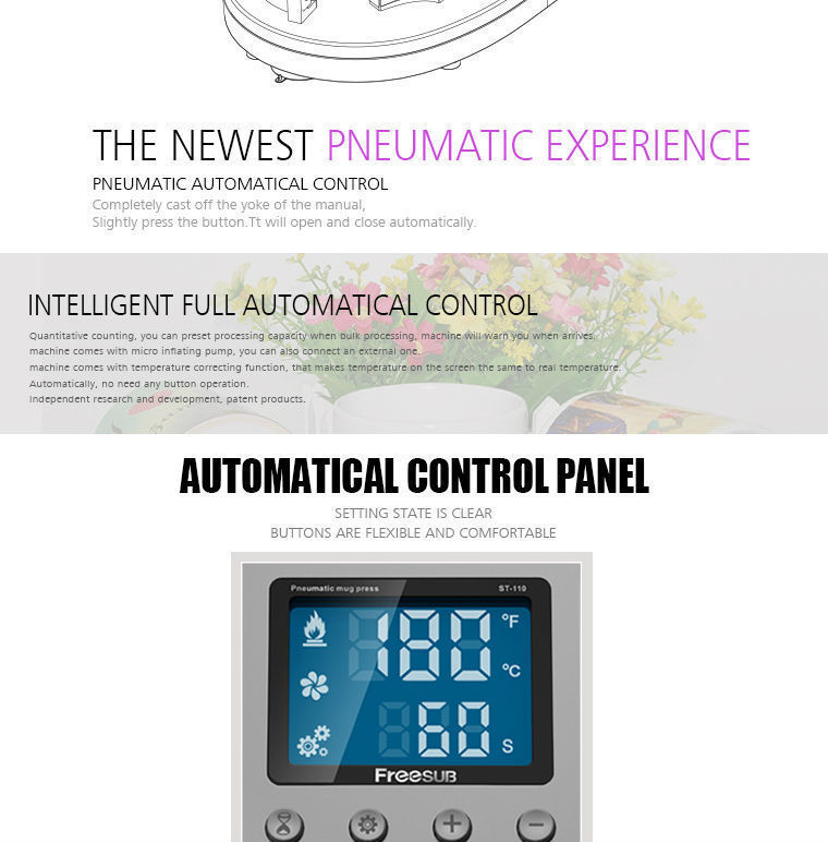 Купить Бесплатная доставка многоцветный теплопередачи машины для Кружка печати Автоматическая машина 3D сублимации машины fofr чашку печати