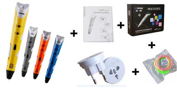Original Myriwell 3D Pen MR3DP-001A Best Children DIY Gift Graffiti Pen 3D Stereo Drawing Pen Compatible 1.75mm ABS/PLA Filament