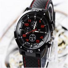 Cool Black Stainless Steel Luxury Sport Analog Quartz Mens Wrist Watch 6 Colors Can Choose