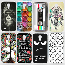 Case For Samsung Galaxy S4 Mini Colorful Printing Drawing Transparent Plastic Phone Cover for Samsung i9190 Hard Phone Cases(China (Mainland))