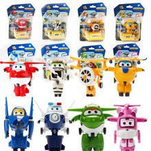 8 Style Korean Anime Super Wings Model Mini Planes toy Transformation Airplane Robot Action Figures Children Gift wings toy(China (Mainland))