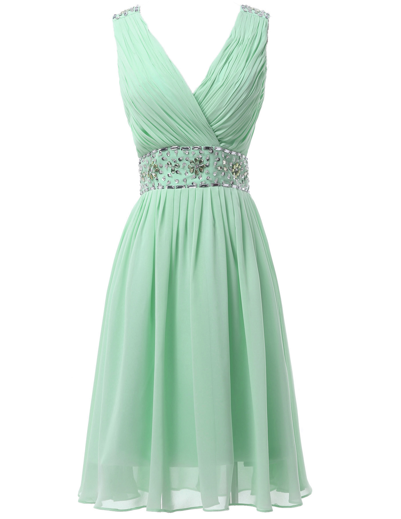 mint green chiffon bridesmaid dresses