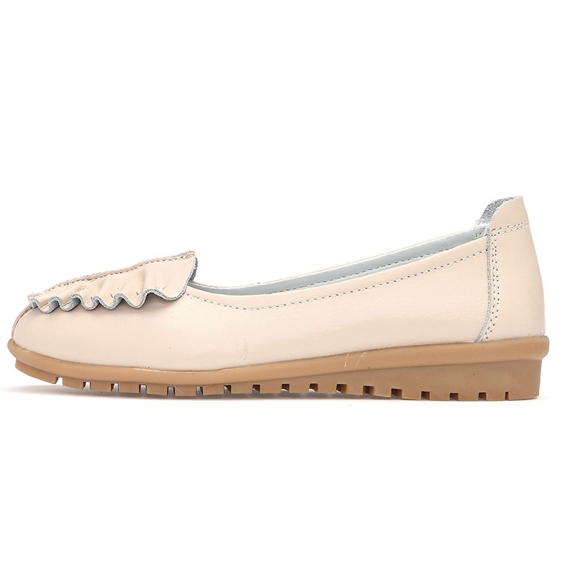 2015 fashion Personality  women's shoes leaves  lighter female shoes flat zapatos mujer genuine leather loafers  women size35-40