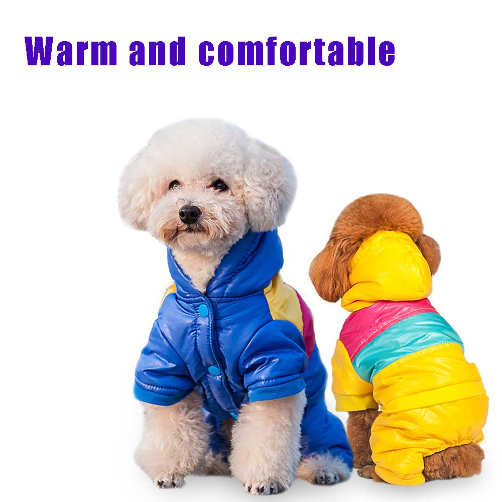 Hot Winter Warm Small Dog Pet Clothes jacket cool colorful Padded Hoodie cloth skiing suit Jumpsuit winter Chihuahua cloth(China (Mainland))