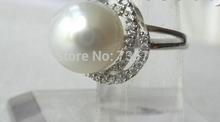 xiuli 004 stunning big 12mm white south sea pearl ring 925s silve(China (Mainland))