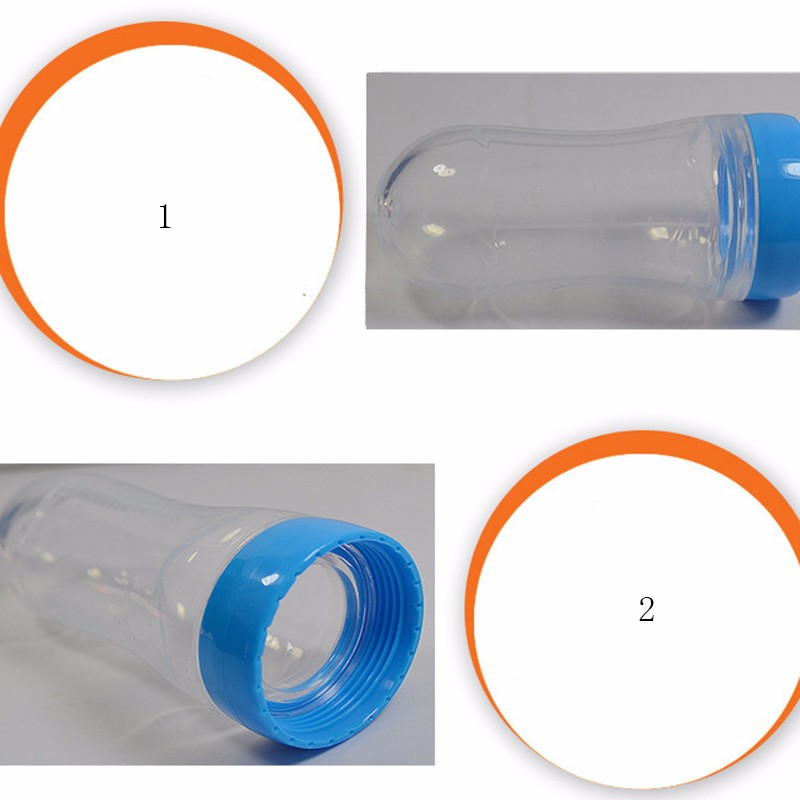 Safty Feeding Bottles Infant Feeding Bottle With Spoon Food Supplement Rice Cereal Bottle Silica Gel Baby Feeding Free Shipping (5)
