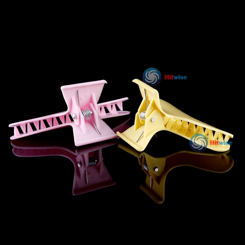 hitwise cheaper 5 pcs Colors Hairdressing Tool Butterfly Hair Claw Salon Clip Clamps Beauty DIY Most popular(China (Mainland))