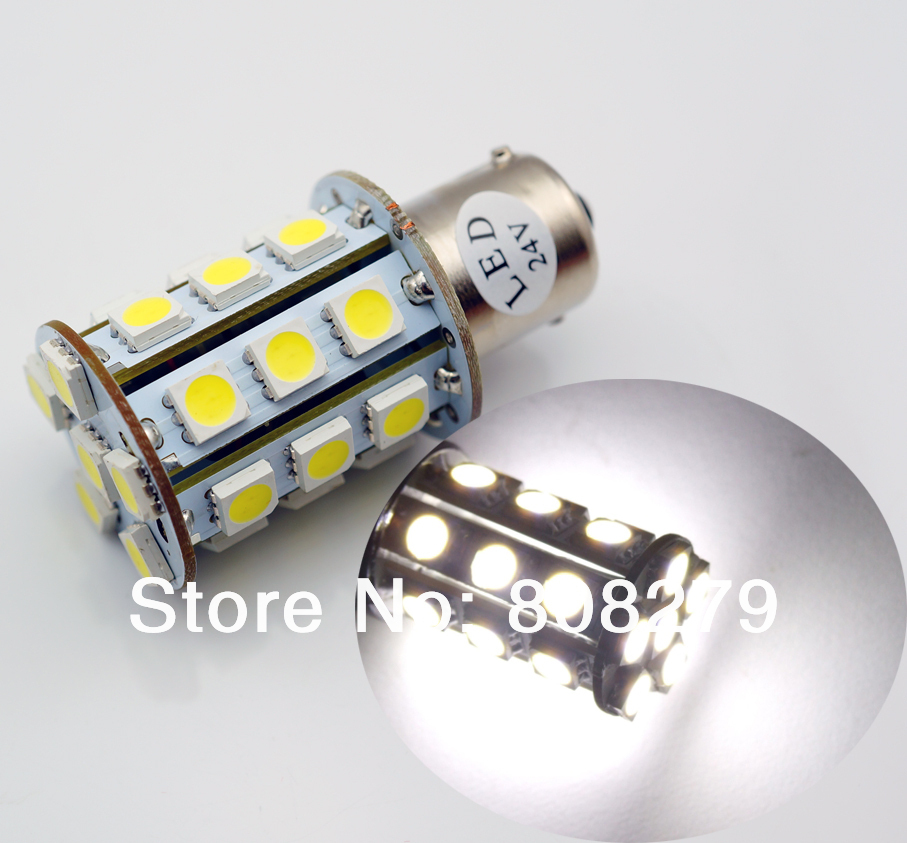turn signal 27 smd truck led bulbs lamp lights ba15s white. Black Bedroom Furniture Sets. Home Design Ideas