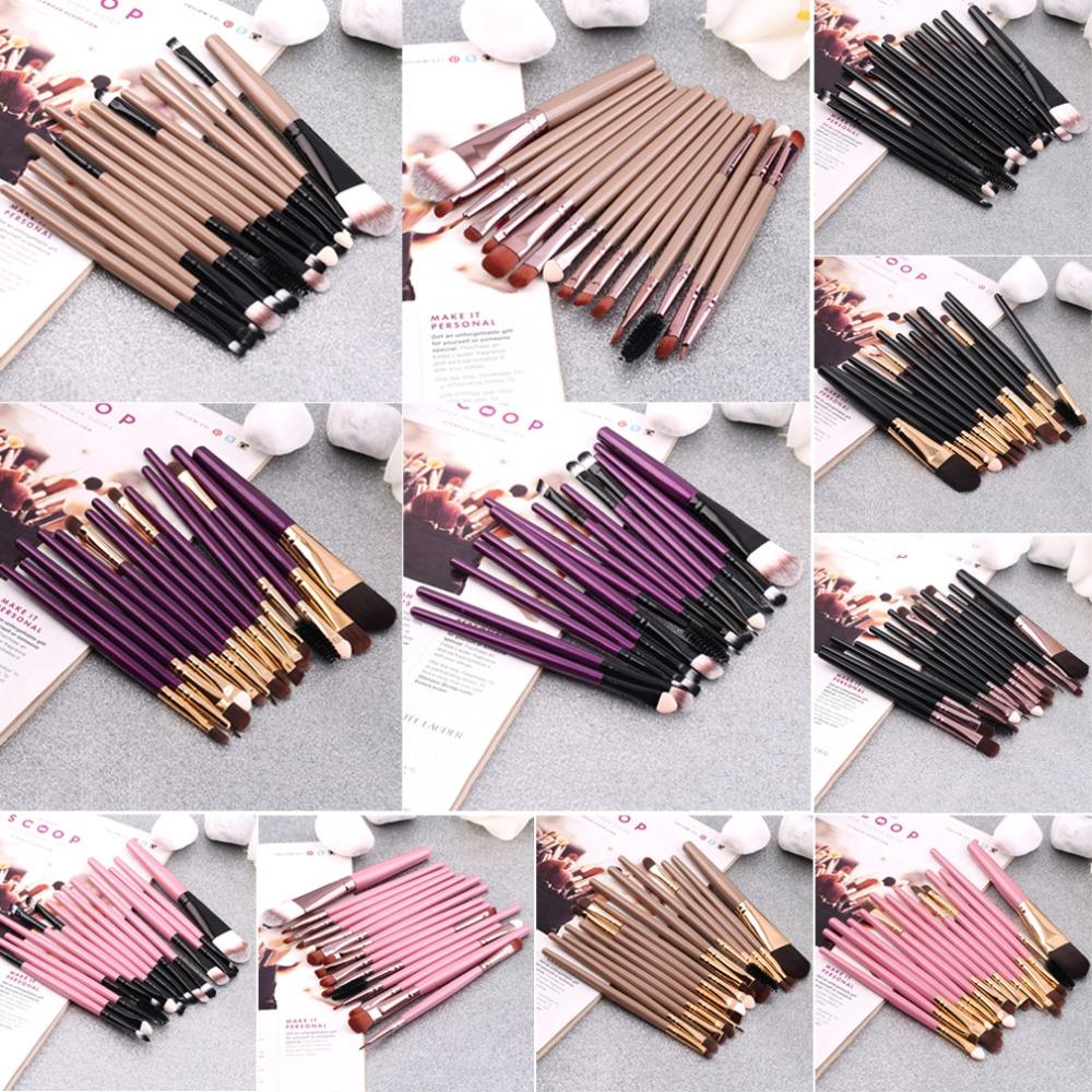 Set of 15PCS Professional pieces brushes pack complete make-up brushes Hot Selling(China (Mainland))
