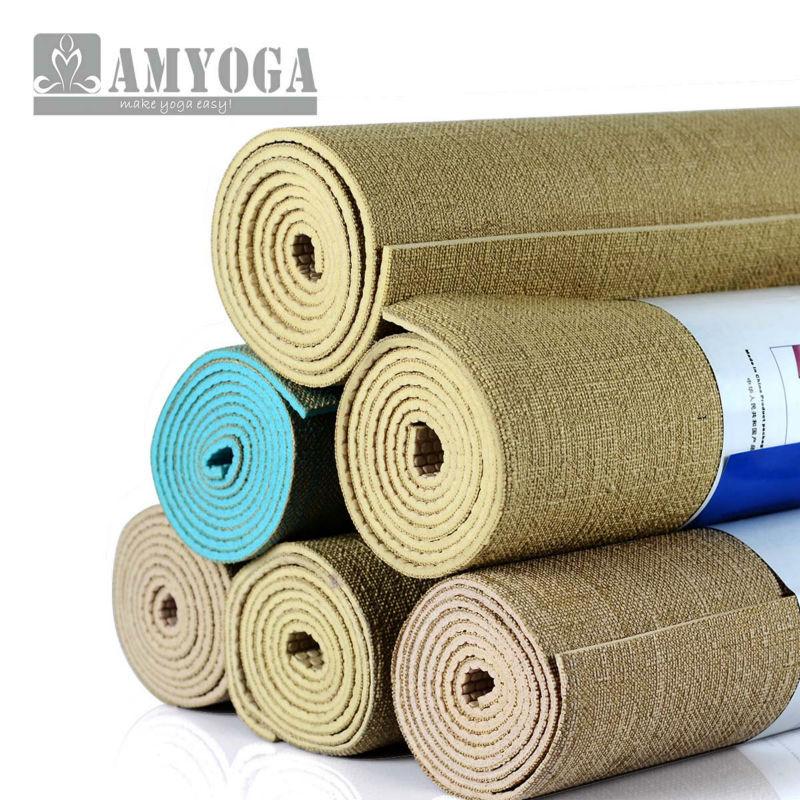 Organic jute yoga mat, nature yoga mat free shipping and durable carry bag(China (Mainland))