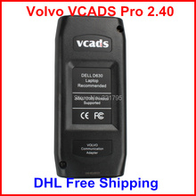 DHL Free Shipping for Volvo VCADS Pro 2.40 Volvo Truck Diagnostic Tool with Multi-Language Professional Scanner(China (Mainland))