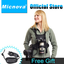 Micnova MQ-MSP01 Carrier II Multi Camera Carrier Photographer Vest with Dual Side Holster Strap for Canon Nikon Sony DSLR Camera
