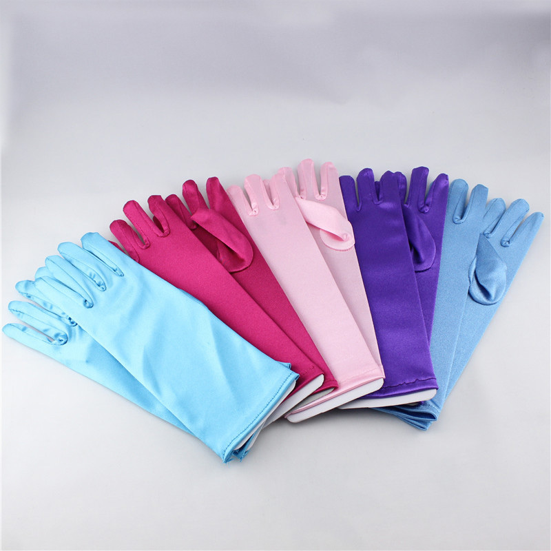New Fashion 5 Colors Cartoon Girls Long Gloves Elsa Princess Girls Ladies Fancy Gloves Christmas Birthday Children Kids Gift(China (Mainland))