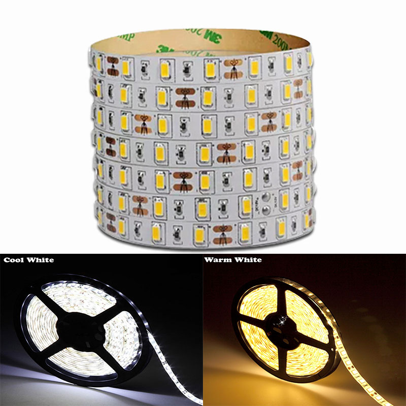 5M 5730 Dimmable LED Strip 12V 60LEDs / M Super Bright  LED Tape IP20 Non Waterproof  LED Light Strip+ Dimmer + Power Supply<br><br>Aliexpress