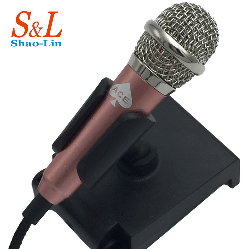 Wired Mini Microphones Stand Mini lapel microphone ACE Studio Conference Microphone for ipone 6 6s computer PC Stereo microfono<br><br>Aliexpress