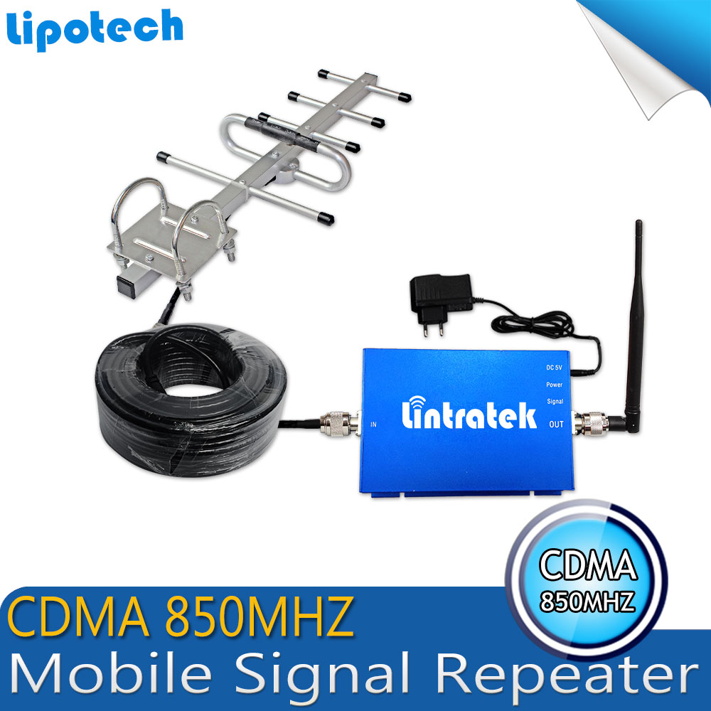 Best Price!!!CDMA 850MHz Mobile Phone Signal Repeater , CDMA 850MHz Signal Booster Cell Phone Amplifier + Antenna with Cable(China (Mainland))