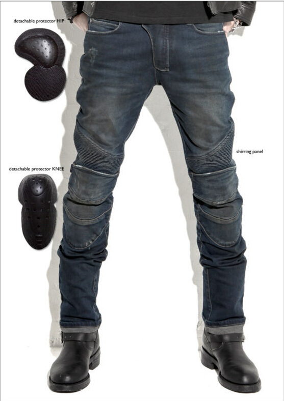 Hot sales 2015 New uglyBROS Featherbed jeans The standard version car ride jeans trousers Motorcycle jeans