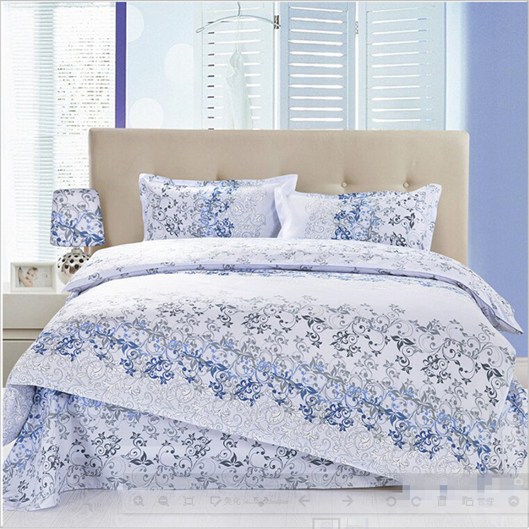 Nordic ikea bedding items 4pcs luxury flower vine design for Queen bed sets ikea