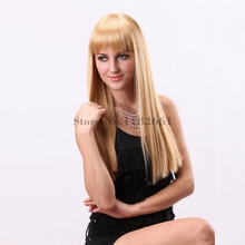 Blonde Wig with Bangs