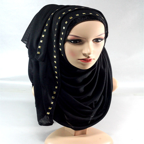 20 Colors Cotton jersey bronze stones design scarf scarves hijab shawls wrap stoles hijabs,Pick Colors(China (Mainland))
