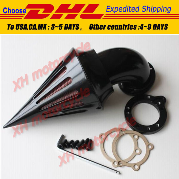 motorcycle parts Spike Air Cleaner filter kits for Harley Davidson S&S custom CV EVO XL Sportster BLACK(China (Mainland))