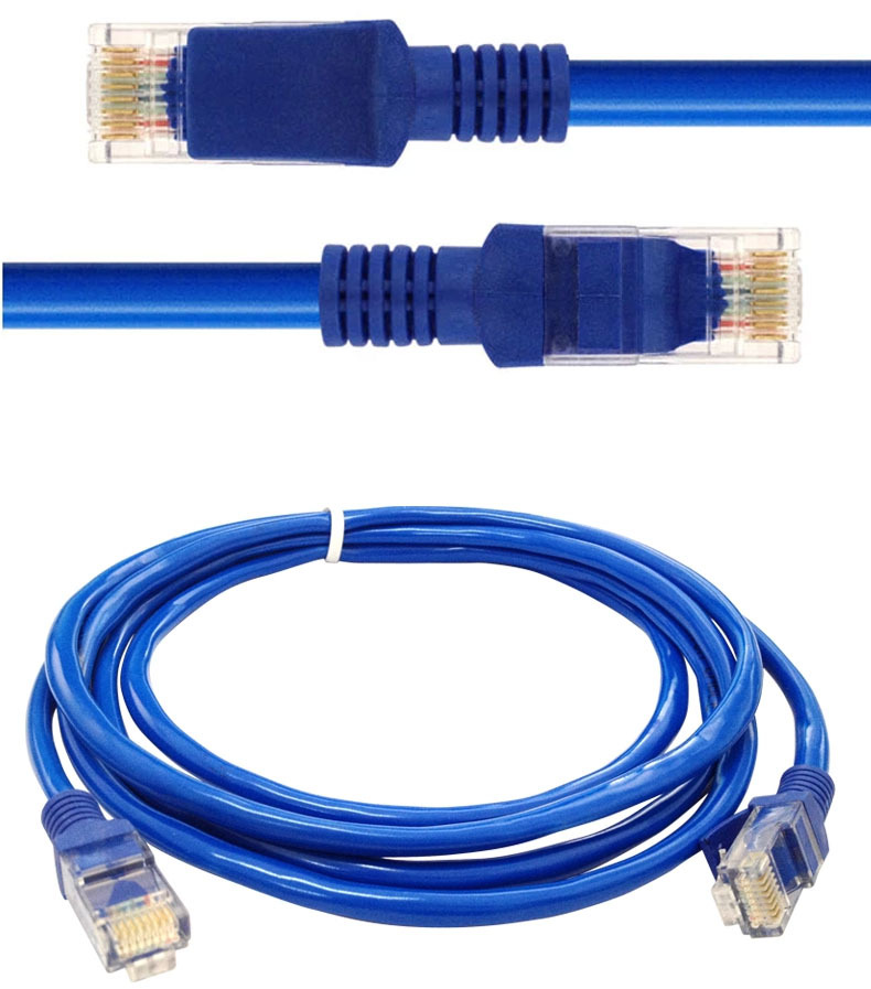 2M Ethernet Cable CAT5 CAT5E RJ45 Network Ethernet Patch Cord RJ45 Lan Cable RJ45 to RJ45 Network Cable Blue(China (Mainland))