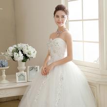 Buy Free white Wedding Dress Bride Princess Lace Sequins Wedding Frocks Cheap Bridal Ball Gowns Vestidos De Novia HS108 for $34.20 in AliExpress store