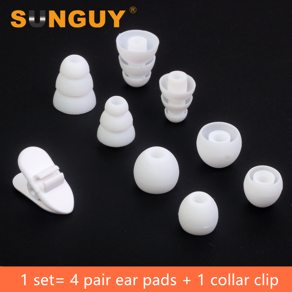SUNGUY White Triple Replacement Silicone Earbuds Ear Pads for Beats Sony and More In-Ear Earphone Earbuds Ear tips(China (Mainland))
