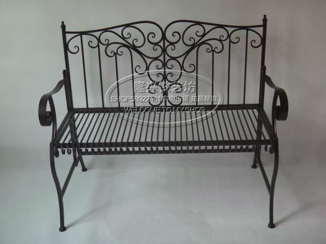 European outdoor furniture wrought iron double bed sofa for Sofa exterior hierro