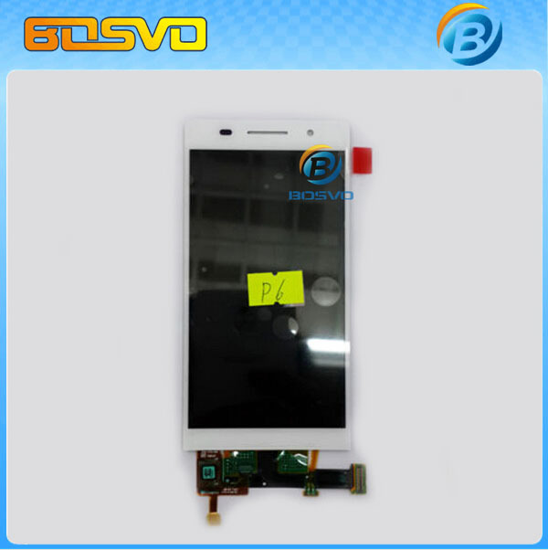 Original replacement for Huawei Ascend P6 LCD display with touch screen digitizer with frame assembly 5pcs/lot DHL EMS SHIPPING