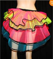 Women girl Layered Ruffle Mini Tutu Skirt, Burlesque Petticoats Clubwear,   fluffy pettiskirts  party skirts, Ballet dance wear