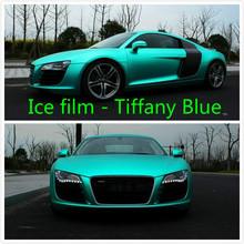 30cm*152cm carbon  Fiber Tiffany Blue Film Vinyl Wrapping Plating Matte Chrome Ice Film Waterproof Car Motocycle Phone Laptop(China (Mainland))