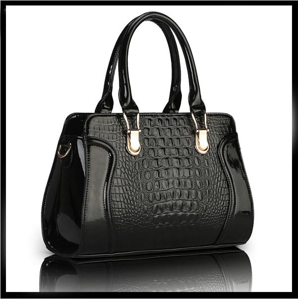 Women Handbag Patent leather designs bag Alligator Women fashion tote Lady Alligator messenger bags Luxury bolsas