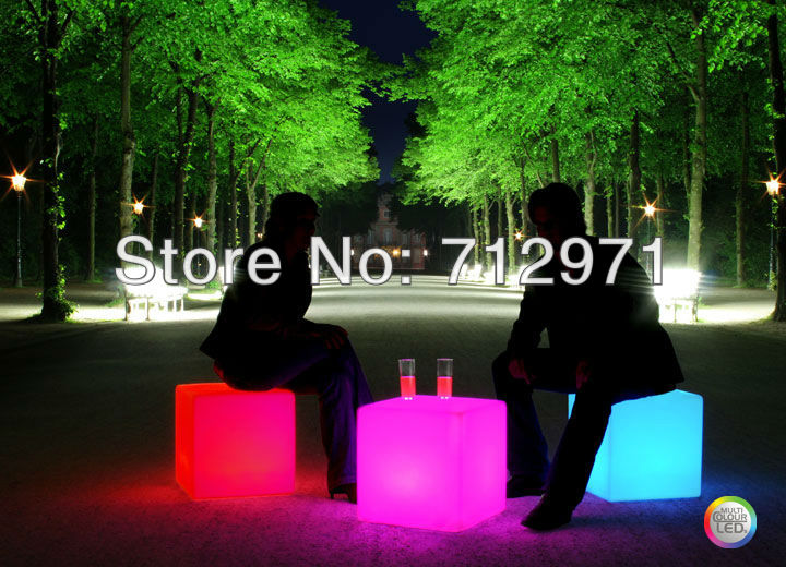 16 colors fashion waterproof led cube<br>