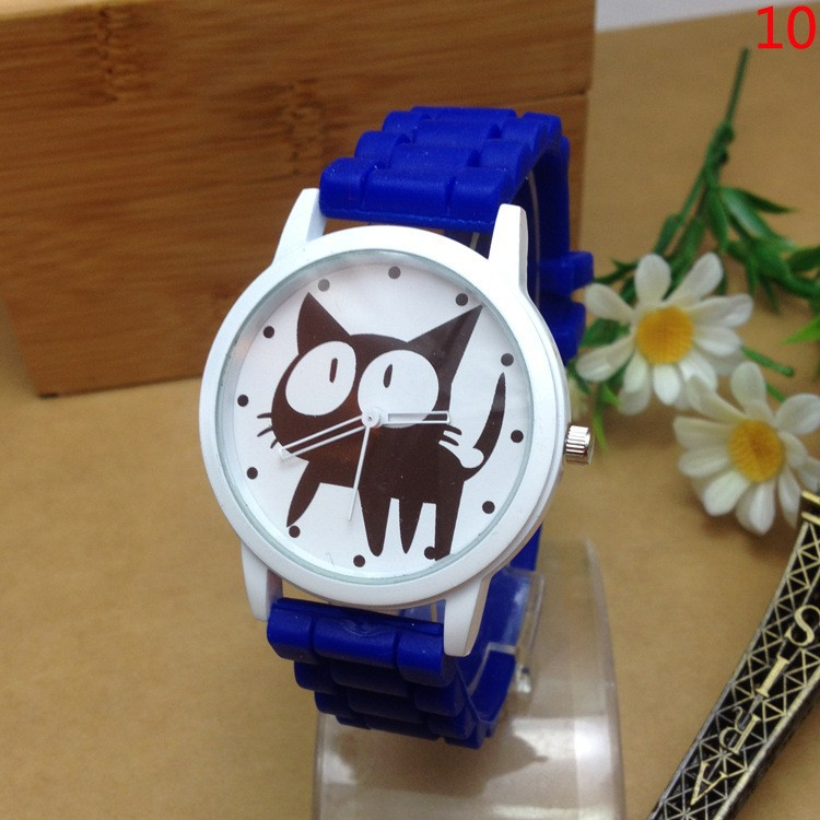 Cute Cartoon Cat Quartz Watch (10 colors)