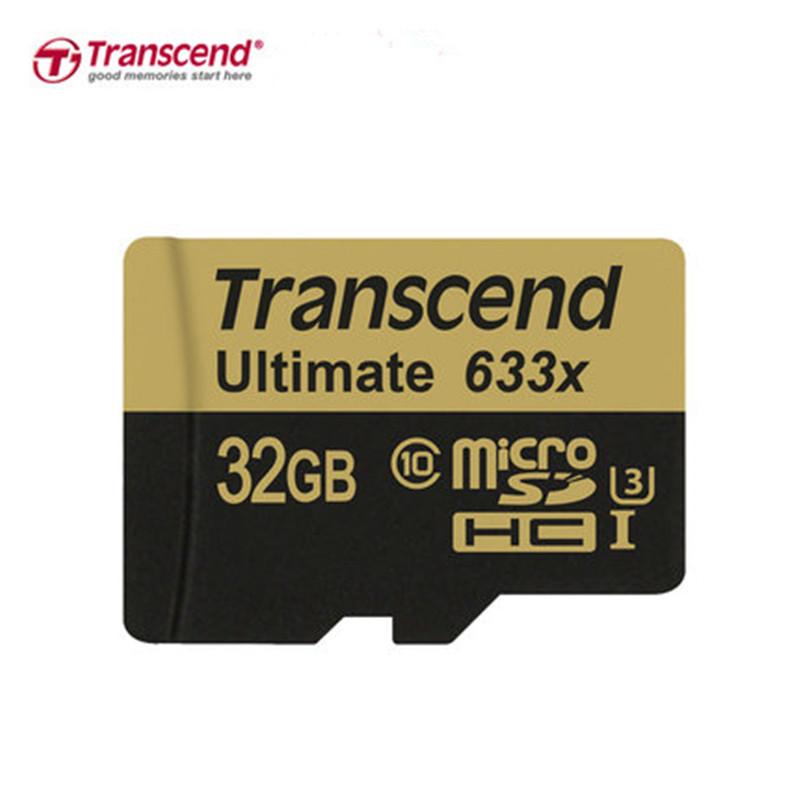 Transcend Actual 32GB 64GB MicroSD MicroSDHC MicroSDXC Micro SD SDXC SDHC Card 95MB/S class 10 633X UHS-1 U3 UHS-I TF Memory Card