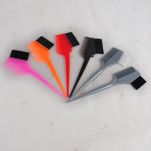 Professional Plastic Hair Dye Coloring Brush Comb High Quality Barber Salon Tint Hairdressing Styling Tools Muti Color