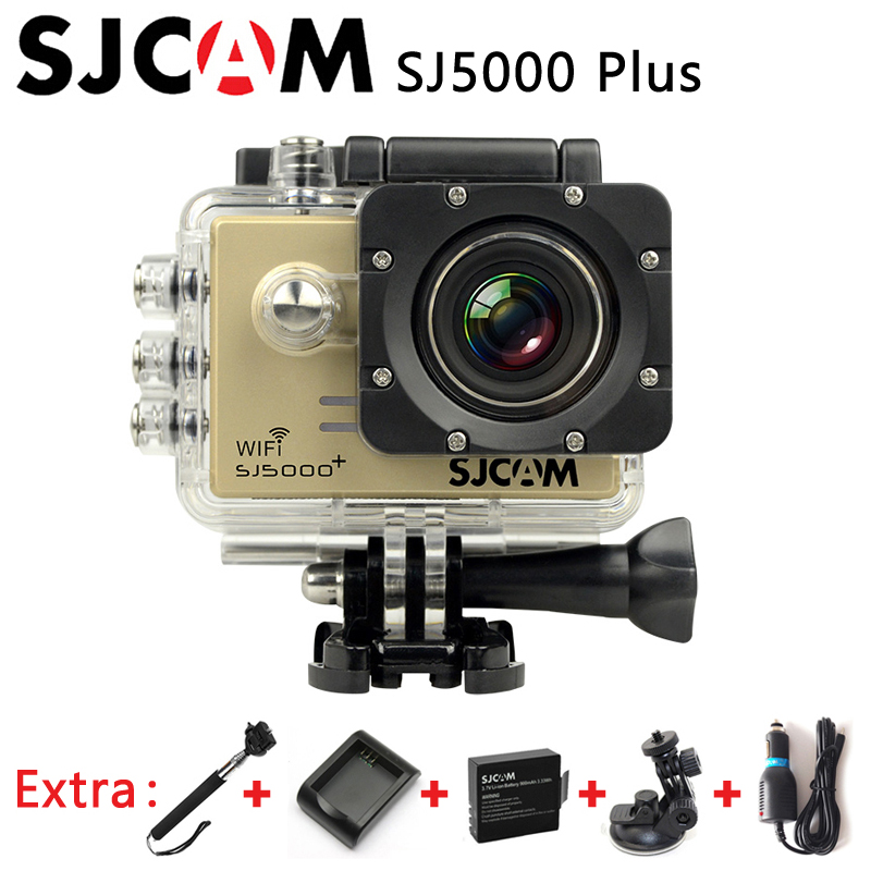 Original SJCAM SJ5000 Plus Sport Action Camera Ambarella A7 WIFI 1080P Cam+Car Charger+Holder+Extra 1pcs Battery+Charger+Monopod(China (Mainland))