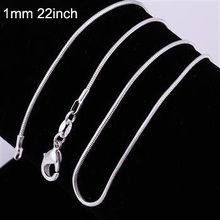 2015 aliexpress cheapest silver necklace 16 18 20 22 24inches Lobster Clasp 925 silver snake chain