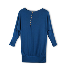 Pullover sweaters women New 2015 Women s Batwing Sleeve Long sleeve Loose Sweater Europe Fashionable Ladies 5 Colors(China (Mainland))
