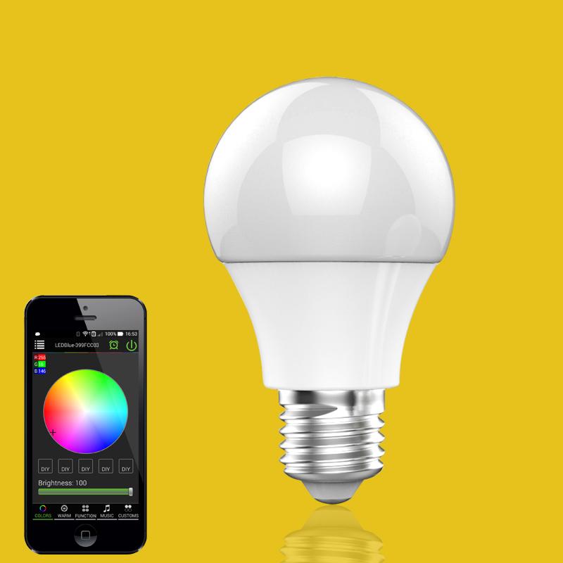 smart led lighting e27 bluetooth led light bulb bluetooth rgb led. Black Bedroom Furniture Sets. Home Design Ideas