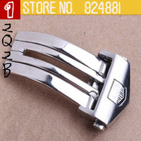 20 mm 2014 NEW TOP Grade stainless steel Deployment Polished Solid Butterfly Buckle Watchband BANDS Strap Clasp 2031
