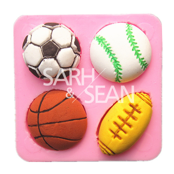 M0698 soccer basketball football tennis ball cake mold chocolate mould fondant kitchen baking cake tool cake decoration bakeware(China (Mainland))